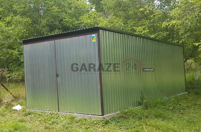 Plechová garáž 3×5 m, pozinkovaná (prvá trieda)